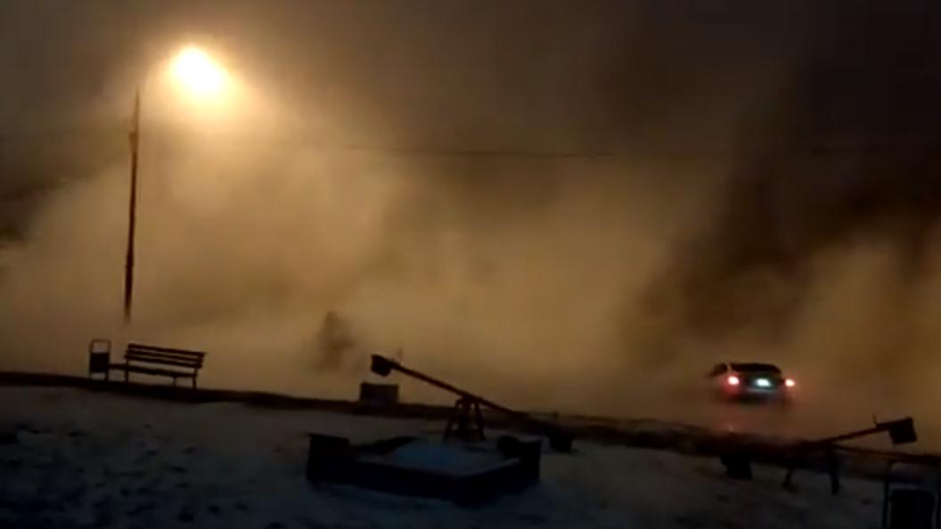 В столице России произошел прорыв теплотрассы, имеется пострадавший