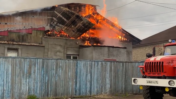 В Шилке сгорело подворье священника Тылькевича