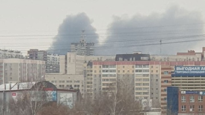 Взрыв на заводе  пластиковых окон в Челябинске - трансляция