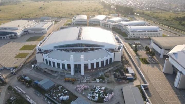 Основные работы завершат до конца года: в Краснодаре Дворец водных видов спорта готов на 80%