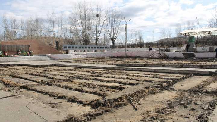 В Сретенске началась реконструкция площади 40-летия Победы