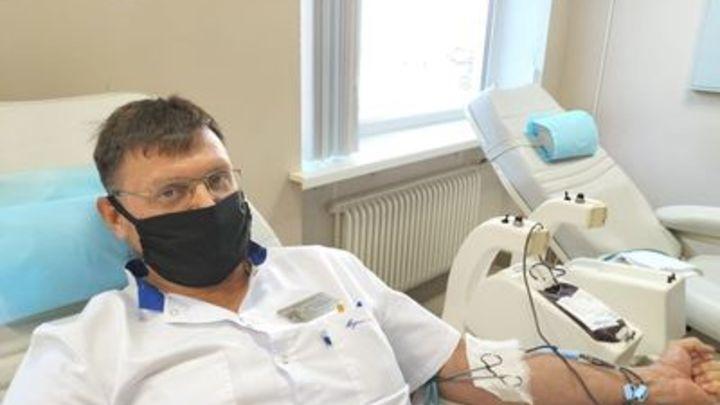 Коломенский врач-травматолог 75-й раз стал донором
