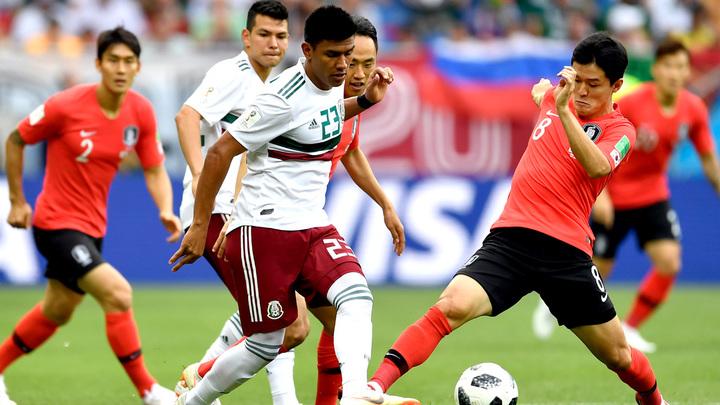 После первого тайма Мексика выигрывает у Южной Кореи со счётом 1:0