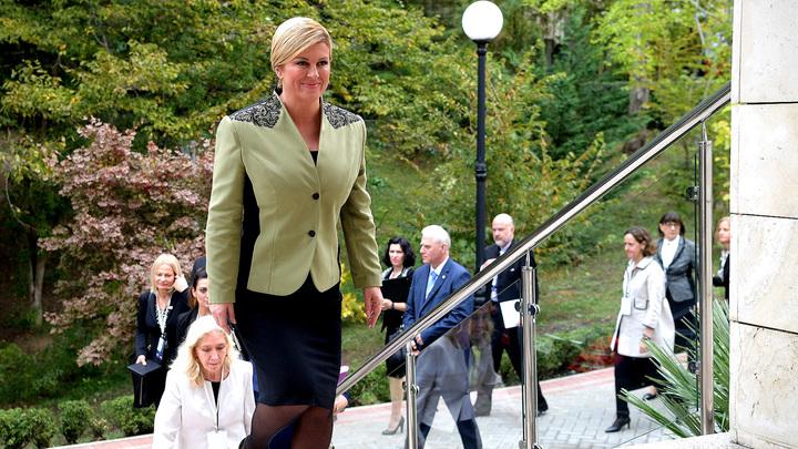 Президент Хорватии прилетела вСочи посмотреть матч ¼ финалаЧМ