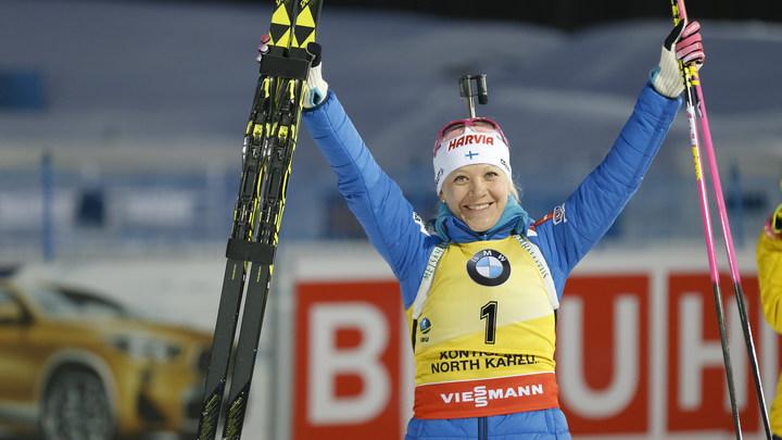 Кайса Мякяряйнен спустя четыре года вновь завоевала Большой хрустальный глобус, Дарья Домрачева поставила победную точку в масс-старте