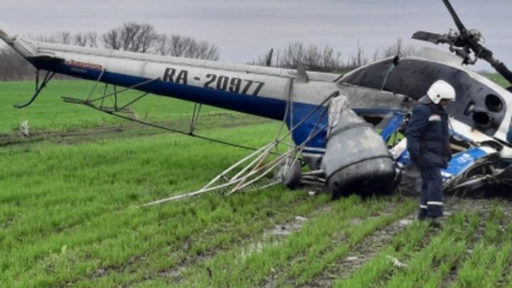 В Краснодарском крае после жесткой посадки вертолета возбудили уголовное дело