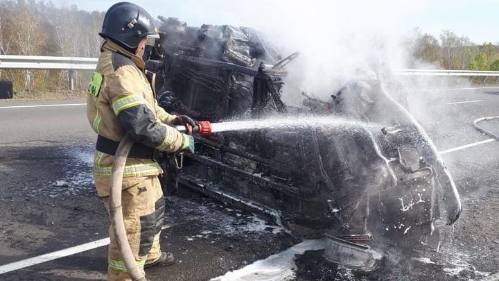 Водитель Suzuki заживо сгорел в ДТП в Шилкинском районе