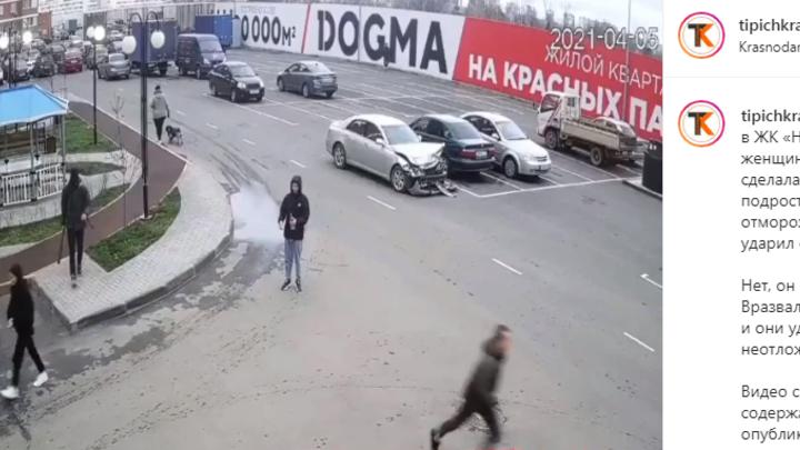 В Краснодаре на подростка, ударившего битой женщину, завели уголовное дело