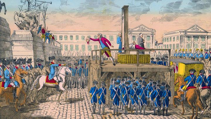 Кровавая казнь короля Людовика XVI