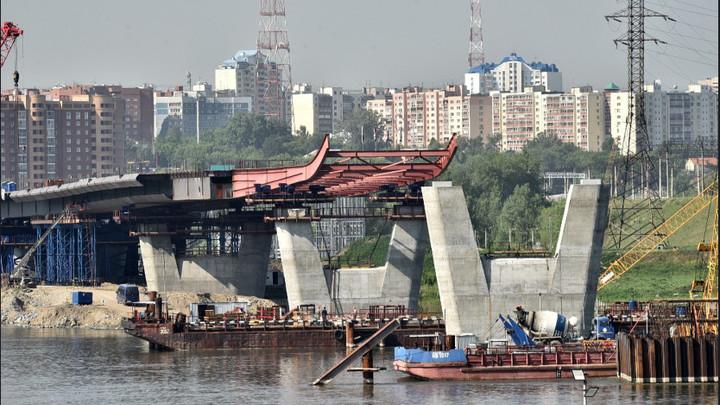 Стометровый пилон четвёртого моста в виде буквы «Н» начали возводить в Новосибирске