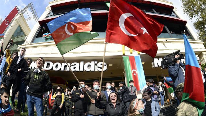 Удар в спину России: Эрдоган аннексирует Карабах
