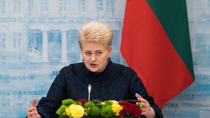 Президент Литвы уехала от учений Запад-2017 в США