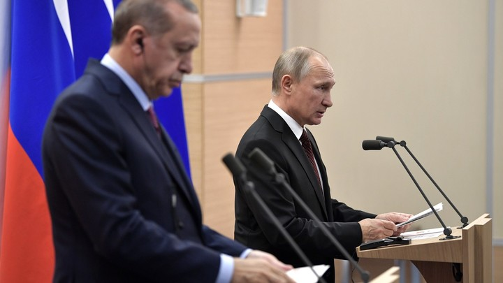 Путин начнет новую неделю с визита к Эрдогану
