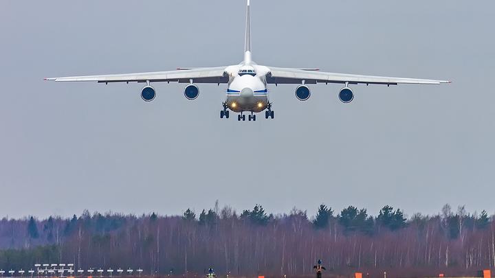 Причиной аварийной посадки Ан-124 в Новосибирске стало разрушение двигателя