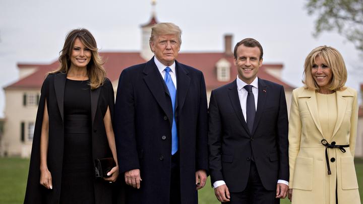 Козий сыр, томатный джем: Трамп показал Макрону, как надо веселиться на светском рауте