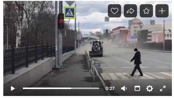 В Челябинске дорожники пускают пыль и реагенты в глаза горожанам
