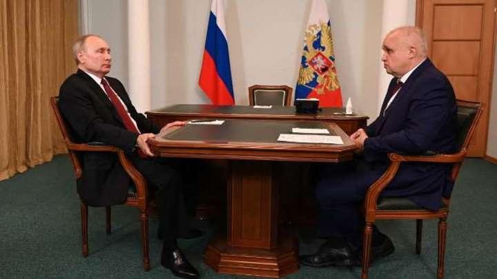 Путин провел личную встречу с губернатором Кузбасса Сергеем Цивилевым