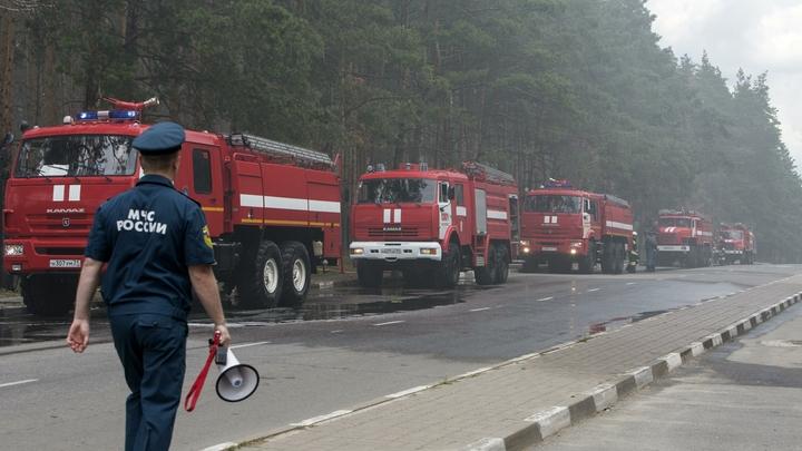 Вмногоэтажном здании Минтруда вГрозном появился пожар натерритории 250 квадратных метров