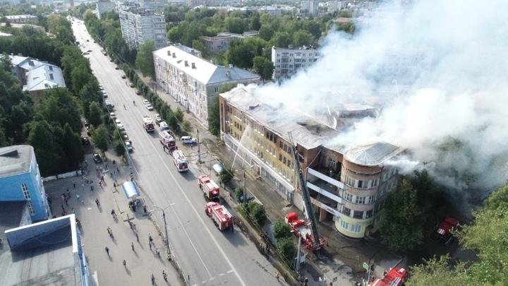 Прокуратура начала проверку по факту пожара в четырехэтажном доме в Коврове