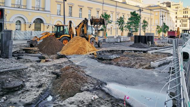 В Нижнем Новгороде смыло дождем новые дороги, построенные к ЧМ-2018