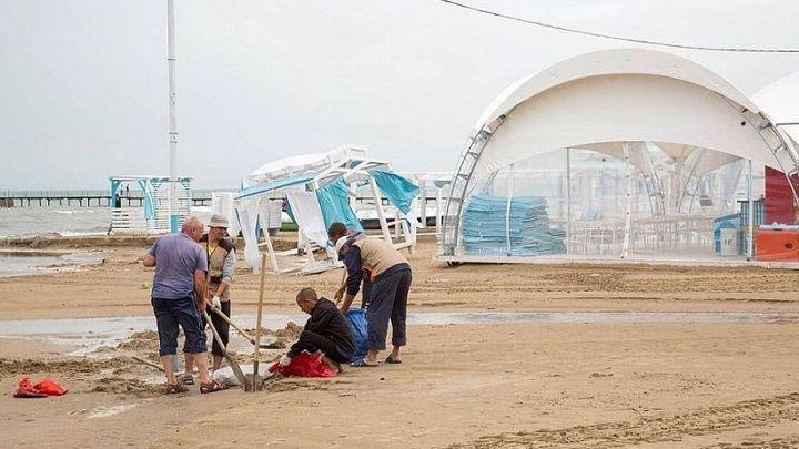Восстановленный после непогоды пляж в Анапе откроют 19 июня