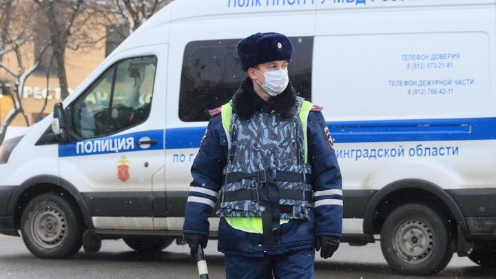 Опубликовано видео, как в Петербурге минивэн службы доставки на полном ходу впечатал девушку в столб