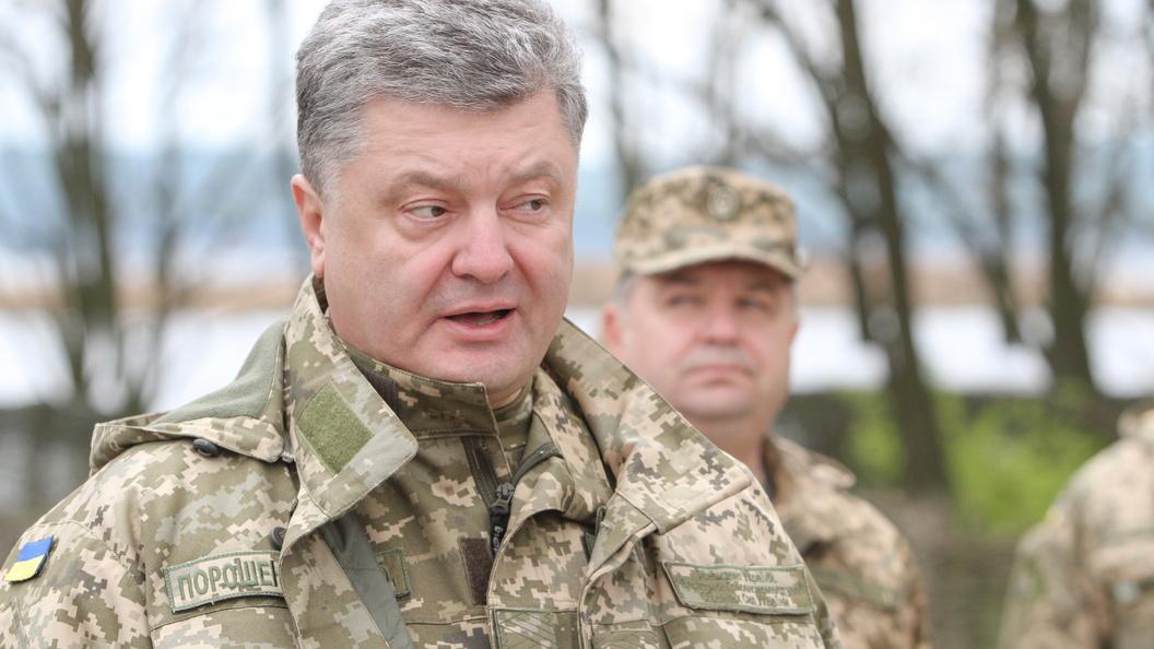 Порошенко: В мае Украина начнет военную операцию в Донбассе