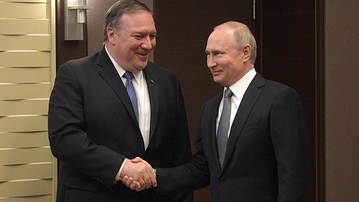 Первый раз Помпео: Как прошли переговоры госсекретаря США с Путиным и Лавровым