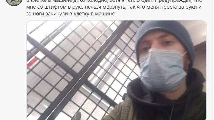 В Санкт-Петербурге задержали сторонников Навального, которые ехали его встречать из Германии
