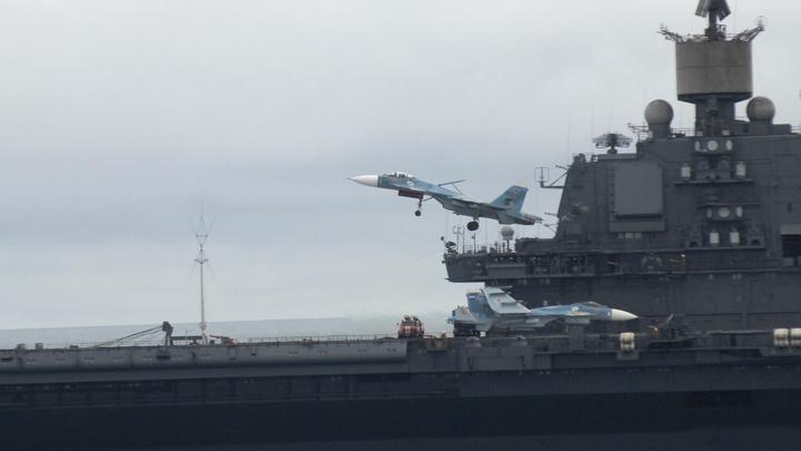 Спустя почти два месяца с авианосца Адмирал Кузнецов убрали упавший кран — СМИ