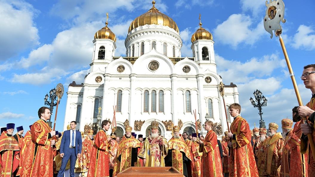 Мощи Патриарха Тихона перенесут в храм Христа Спасителя