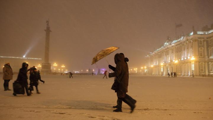 В Петербурге дети снежками прогнали тракториста, пытавшегося снести их горку