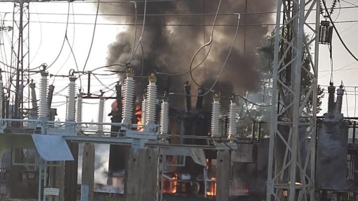 В Наро-Фоминском округе Подмосковья горела электроподстанция