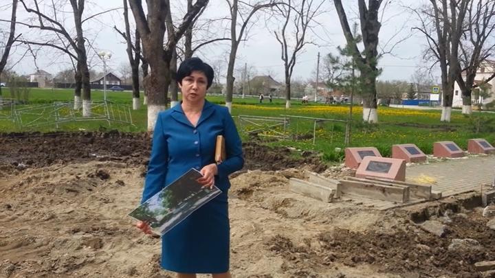 На Кубани закатали асфальтом братскую могилу казаков, погибших в 1942-м в бою за станицу Пшехскую