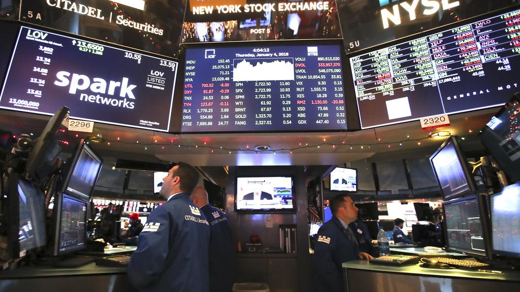 Биржи США снизились вслед заакциями технологического сектора
