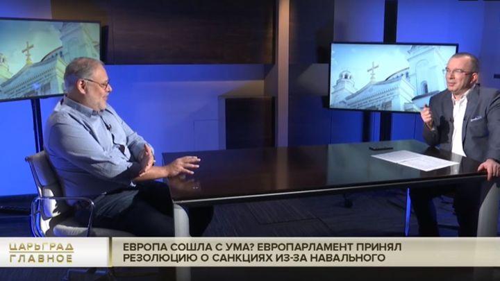 А ты не чеши: Хазин ответил Европарламенту на остановку Северного потока - 2  анекдотом
