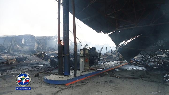 Проверка не нашла нарушений в размещении сгоревшей новосибирской АГЗС