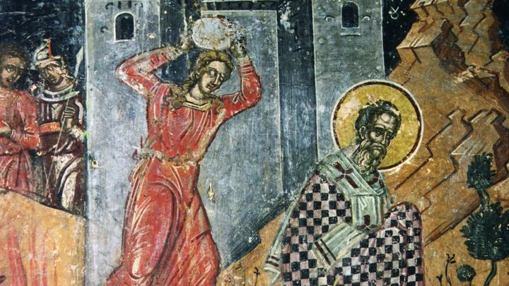 Озверевшие ариане убили старца. Священномученик Ипатий Гангрский.Церковный календарь на 13 апреля