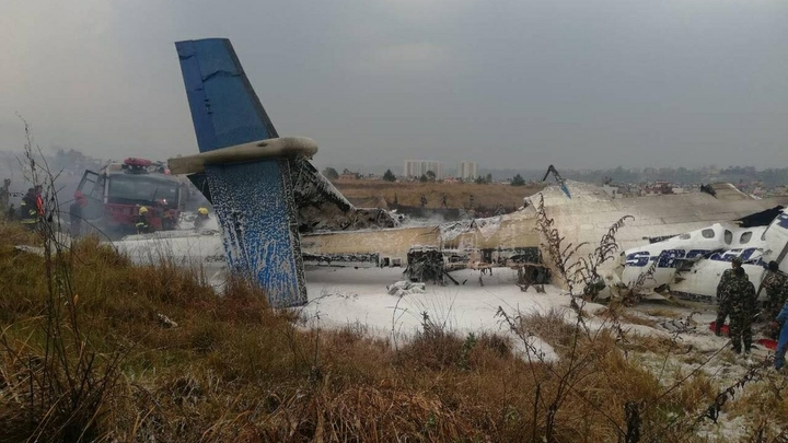 Стала известна официальная версия крушения самолета в Катманду