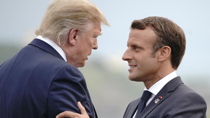 «Говори за себя»: Трамп вернул шайбу Макрону