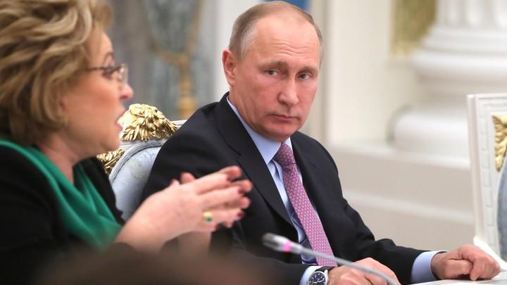 Матвиенко о решении Путина идти на выборы: Россия дружно выдохнула