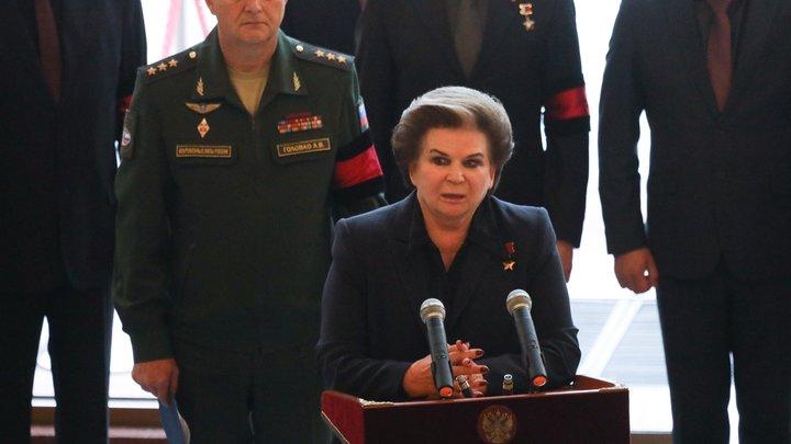 Терешкова имела секретный разговор с Путиным после выступления в Госдуме