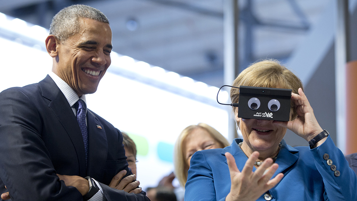Обама похвалил тусовщицу Меркель
