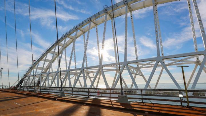 Опубликовано фото полностью готового отрезка Крымского моста