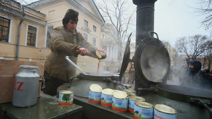 Очередной предвыборный фейк: Граждане России пойдут голосовать за макароны и тушенку