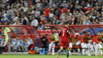 На игре Португалии и Чили болельщики вывесили прощальный баннер