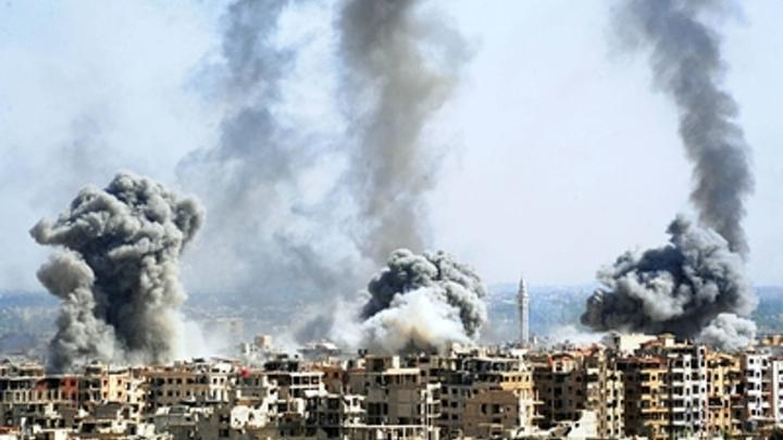 Ракетный удар ВВС Израиля по Дамаску попал на видео