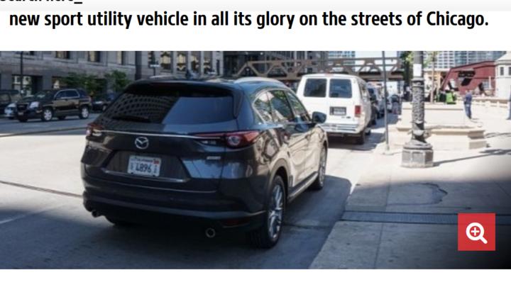 Автошпионы засняли новую Mazda CX-8 без камуфляжа в Сан-Франциско