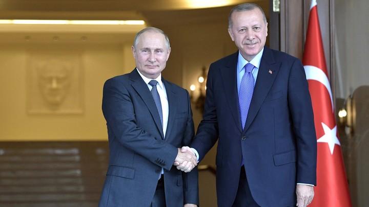 Всё в порядке? - Спасибо! Путин и Эрдоган на фоне истерики США на Ближнем Востоке открыли Турецкий поток
