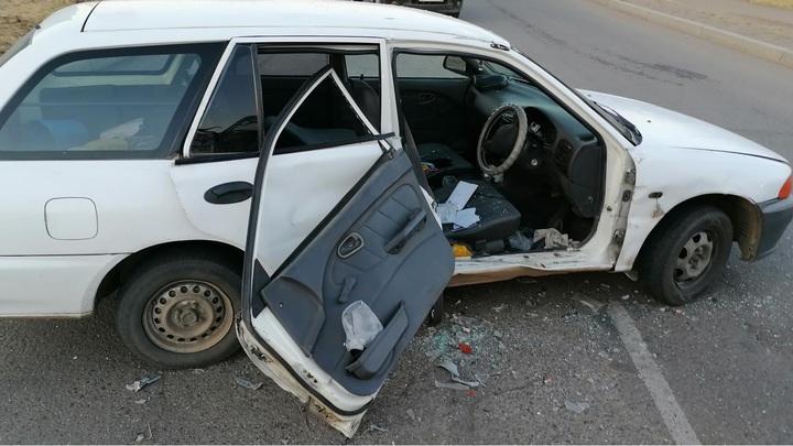 В Краснокаменске водитель грузовика протаранил Mitsubishi